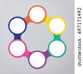 circle infographic template... | Shutterstock .eps vector #697171492