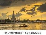 wat arun ratchawaram  a... | Shutterstock . vector #697182238