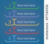 5 steps sequence rank template... | Shutterstock .eps vector #697182436