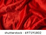 red fabric for texture and... | Shutterstock . vector #697191802