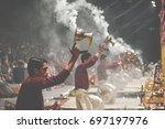 varanasi  india   january 25 ... | Shutterstock . vector #697197976