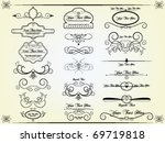 vector design set | Shutterstock .eps vector #69719818