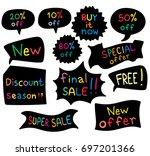 promo banner geometric vector... | Shutterstock .eps vector #697201366