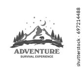 outdoor and camping logo design ... | Shutterstock .eps vector #697214488