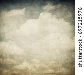 vintage image of cloudy sky   Shutterstock . vector #697215976