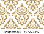 floral pattern. wallpaper... | Shutterstock .eps vector #697223542