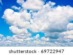 Background Of Blue Sky With...