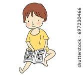 vector illustration of kid... | Shutterstock .eps vector #697230466