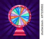 realistic 3d spinning fortune... | Shutterstock .eps vector #697235002