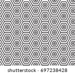 geometric black and white... | Shutterstock .eps vector #697238428