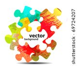 Stock vector abstract puzzle shape colorful vector design 69724207