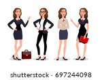 raster copy business womens... | Shutterstock . vector #697244098