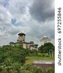 Small photo of JOHOR BAHRU,MALAYSIA-AUGUST 3 2017:The building of Sultan Ibrahim at Bukit Timbalan, Johor