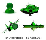 set of military icons. vector 2 | Shutterstock .eps vector #69725608