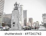 gwanghwamun square seoul south... | Shutterstock . vector #697261762