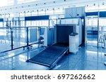 airport security check with... | Shutterstock . vector #697262662