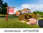 businessman or finance... | Shutterstock . vector #697263958