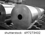 final coils of aluminum foil... | Shutterstock . vector #697273432