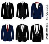 men's jacket. collection.... | Shutterstock .eps vector #697273618