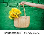 Bouquet Of Sunflowers. Yellow...