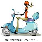 sexy career woman | Shutterstock .eps vector #69727471