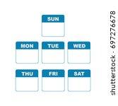 calendar week   Shutterstock .eps vector #697276678