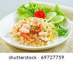 unique style thai shrimp fried...   Shutterstock . vector #69727759
