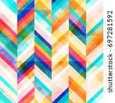 colored zigzag seamless pattern ... | Shutterstock .eps vector #697281592