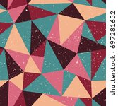 triangle seamless pattern with...   Shutterstock .eps vector #697281652