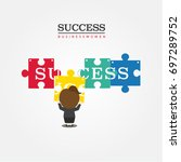 business to success   Shutterstock .eps vector #697289752
