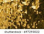 sequins close up macro.... | Shutterstock . vector #697293022
