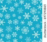 snowflake simple seamless... | Shutterstock .eps vector #697293865