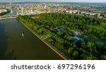 aerial view photo of battersea... | Shutterstock . vector #697296196