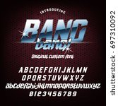 cool italic typeface bang bang... | Shutterstock .eps vector #697310092