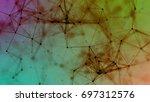 composition based on plexus. ... | Shutterstock . vector #697312576