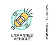 icon unmanned vehicle. a car... | Shutterstock .eps vector #697314892