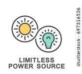 icon limitless power source.... | Shutterstock .eps vector #697316536