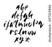 hand drawn dry brush font.... | Shutterstock .eps vector #697319866