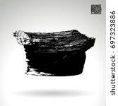 black brush stroke and texture. ... | Shutterstock .eps vector #697323886