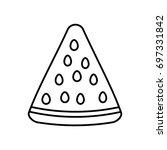 watermelon fruit icon   Shutterstock .eps vector #697331842