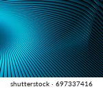 elegance blue wave stripe... | Shutterstock . vector #697337416