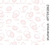 cute seamless pattern with...   Shutterstock .eps vector #697341862