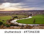 view along the forth river in... | Shutterstock . vector #697346338