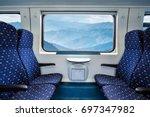 empty interior of the train for ... | Shutterstock . vector #697347982