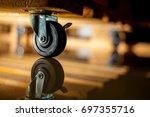 cart wheels or trolley wheel...   Shutterstock . vector #697355716