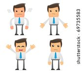 set of funny cartoon office... | Shutterstock .eps vector #69735583