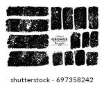 set of grunge banners. vector... | Shutterstock .eps vector #697358242