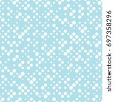 geometric dots deco art... | Shutterstock .eps vector #697358296