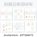 set with infographics. data and ... | Shutterstock .eps vector #697368472