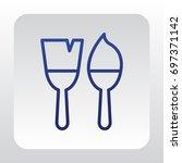 brush icon vector. | Shutterstock .eps vector #697371142